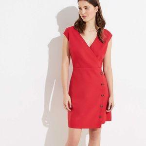 Loft v-neck Red Dress size 14